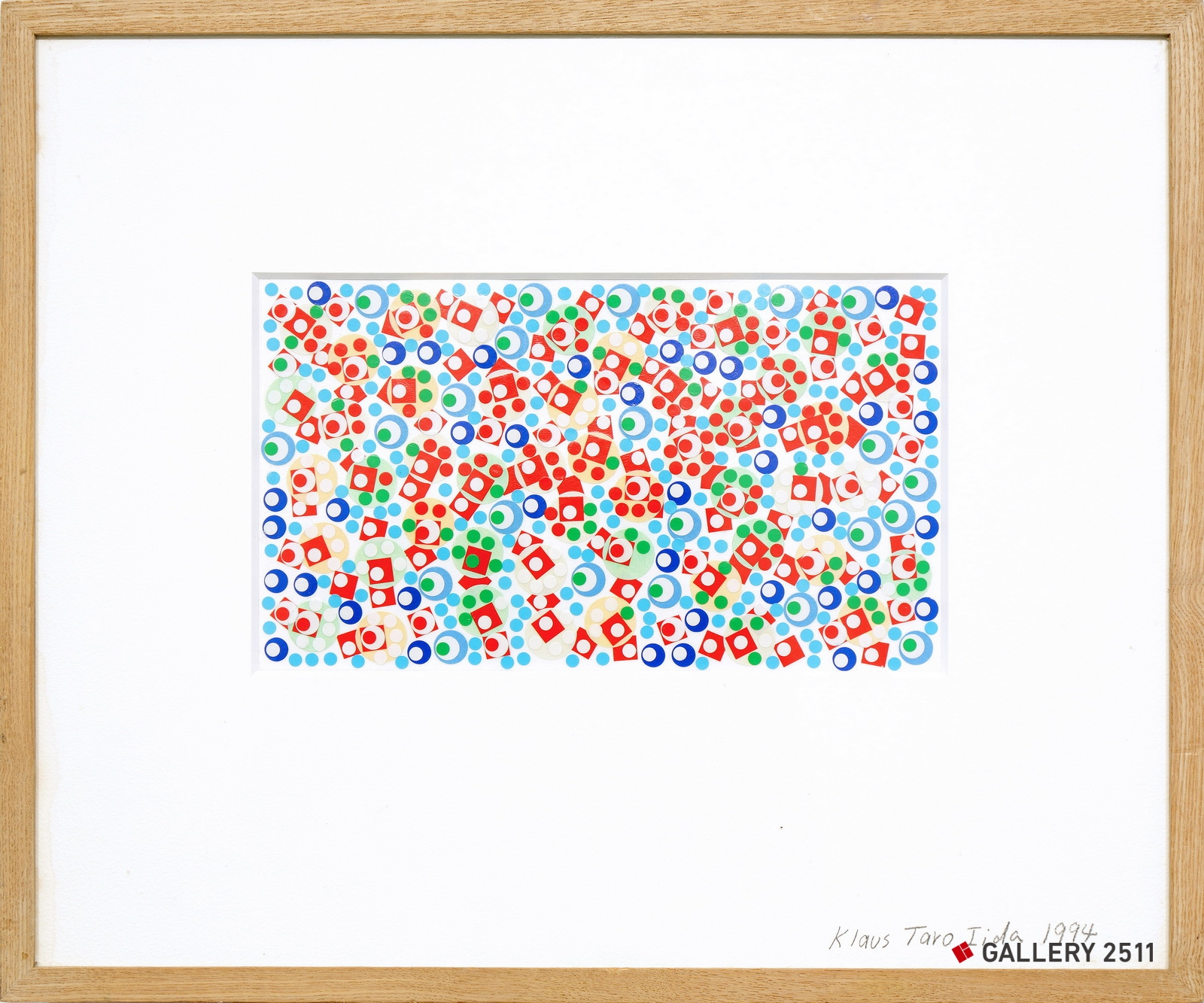 No.082 -「無題」  紙、シール, W251mm × H142mm, 1994