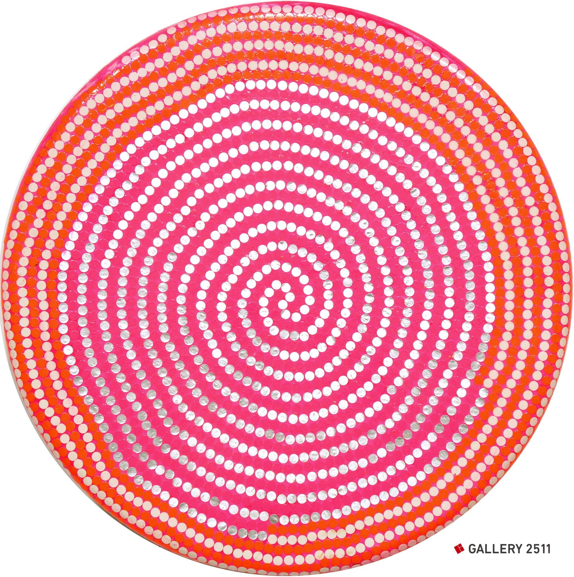 No.097 -「ジョギングピンク」  円板, Φ300mm, 2009