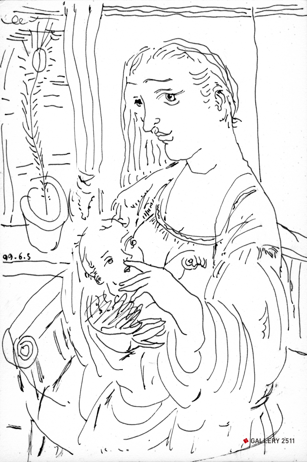 No.145 - 'Mother and child'