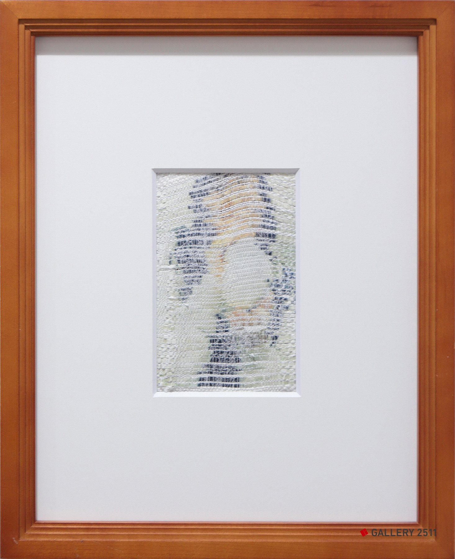 「はじまり」ケント紙・絹紡糸・トレペ / 綴織、W90mm × H130mm