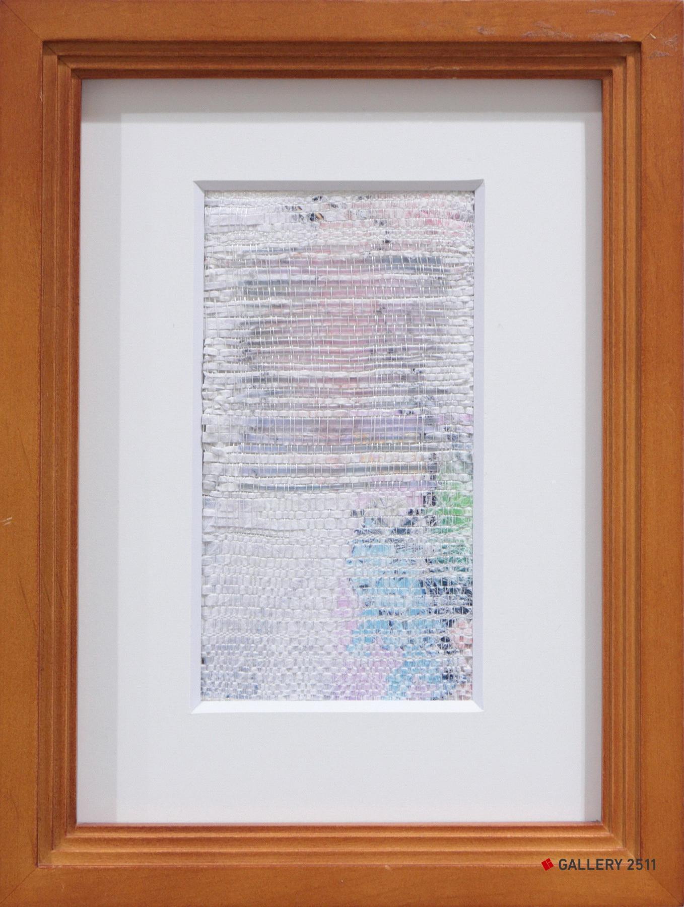 「はじまり」ケント紙・絹紡糸・トレペ / 綴織、W90mm × H100mm