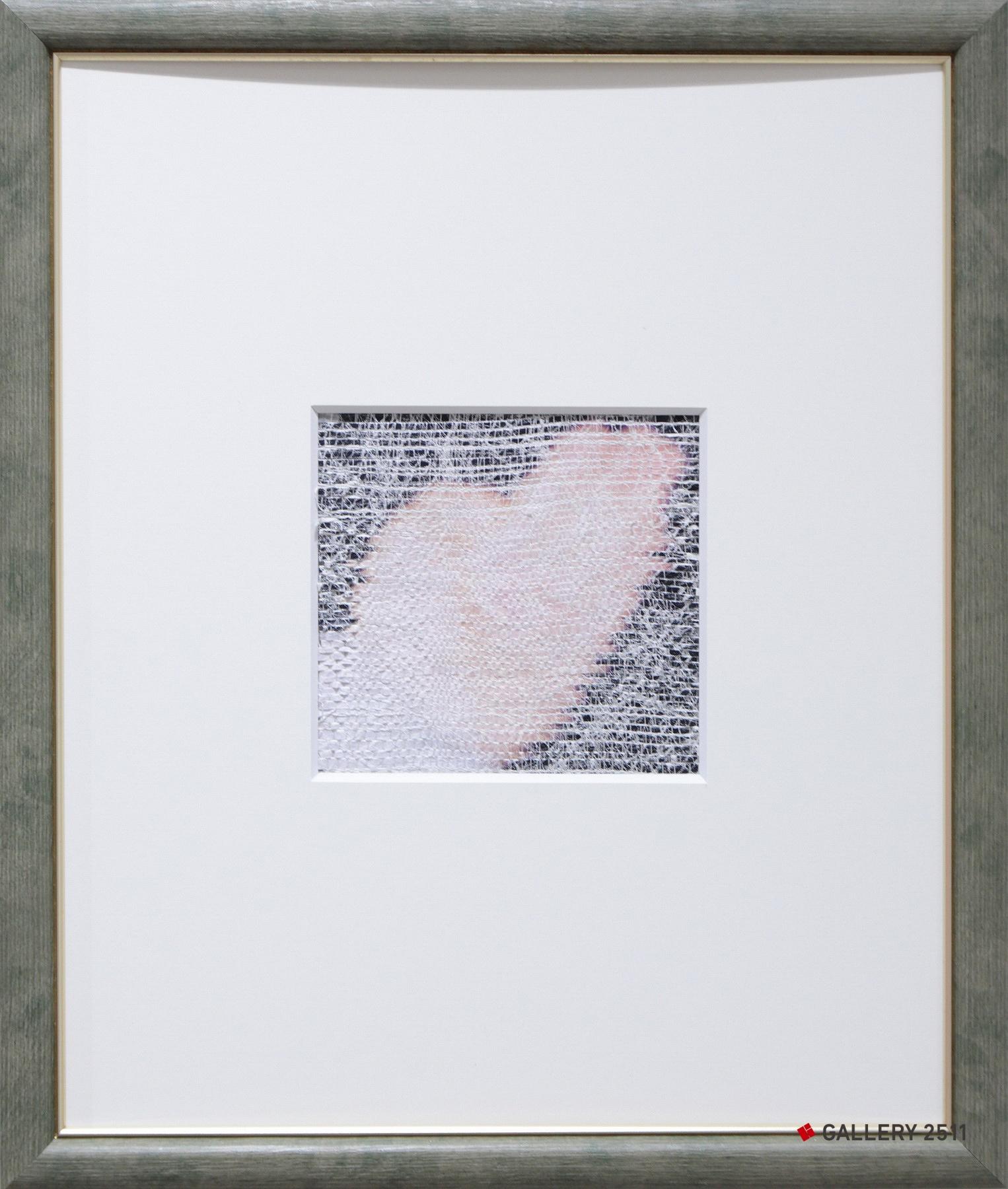 「はじまり」ケント紙・絹紡糸・トレペ / 綴織、W100mm × H90mm
