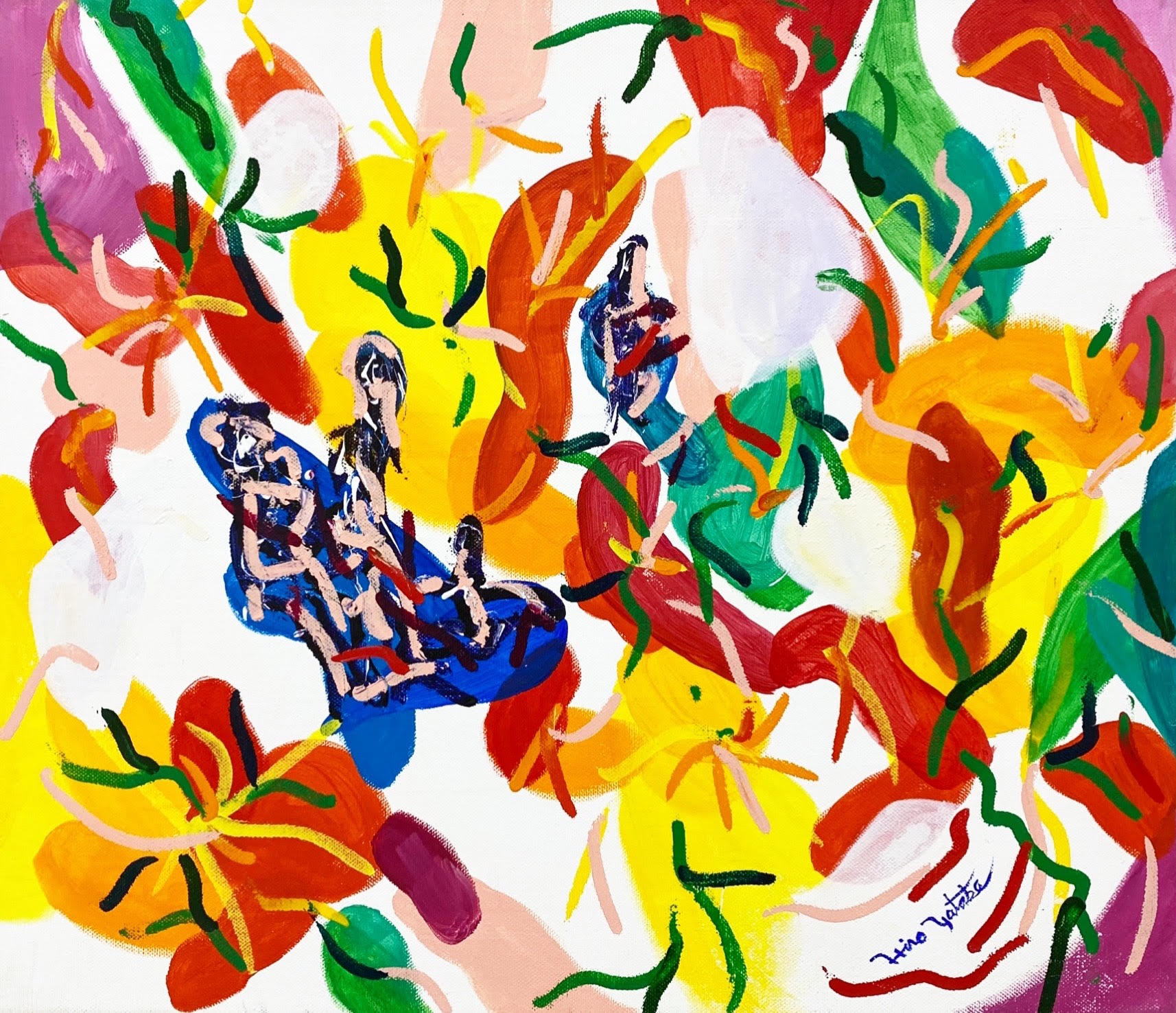 Tropical Daydream Canvas,acrylic,W530mm × H455mm (F10) ¥60,000  (tax included)